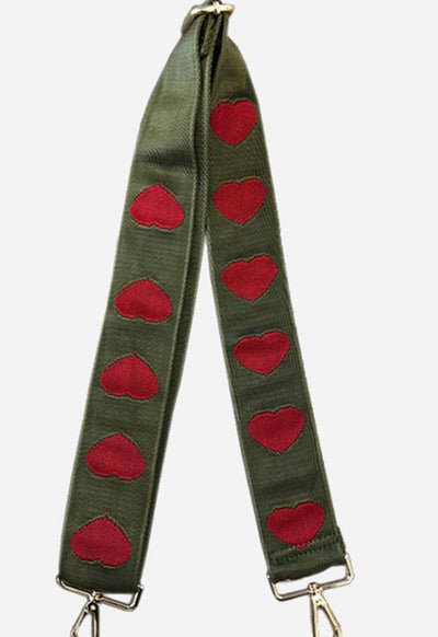 AHDORNED BSGH143ARH RED HEARTS STRAP ARMY - BSGH143ARH-AHDORNED