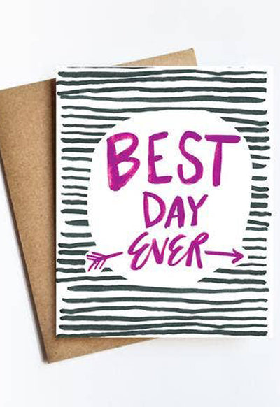 LIVE LOVE STUDI BEST-DAY-EVER BEST DAY EVER CARD - BEST-DAY-EVER-LIVE LOVE STUDI