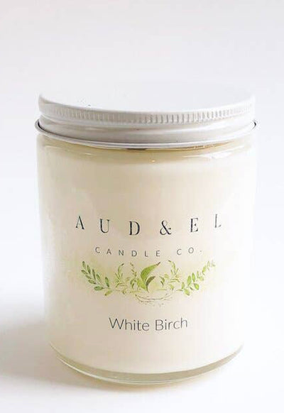 Aud & El - White Birch Candle