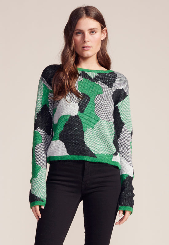 BB Dakota - Blending Bright Green Multi Sweater