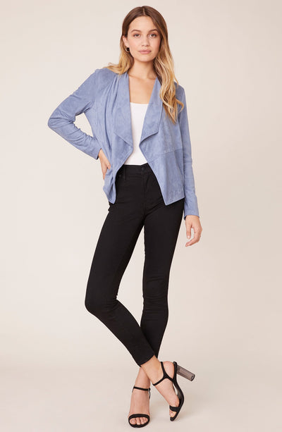 BB Dakota - Hazy Blue Suede It Out Jacket