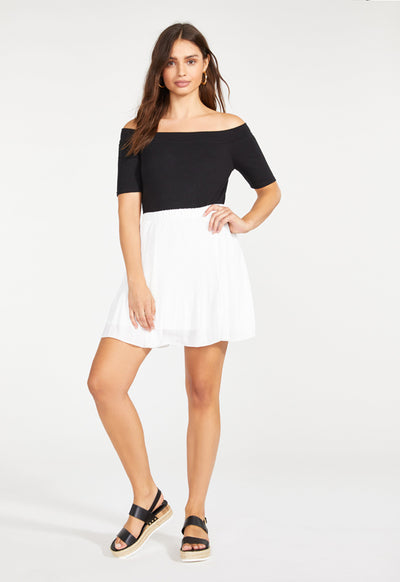 BB Dakota - Life Com Pleated Skirt Ivory