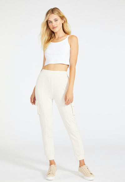 BB Dakota - Love & Pockets Jogger Ivory