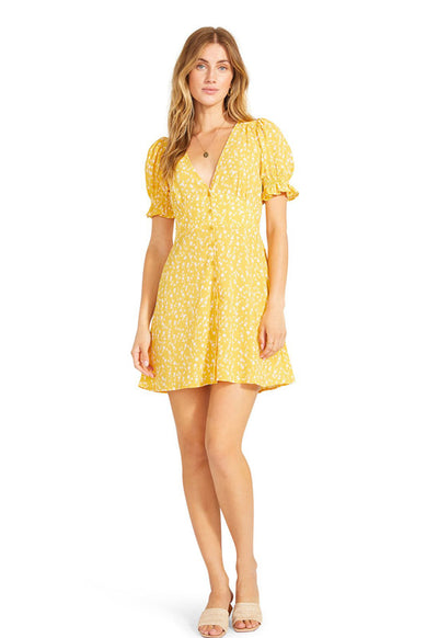 BB Dakota - Floral Tradition Dress Sunflower