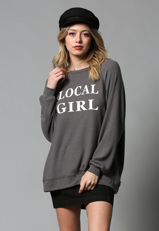 By Together - Charcoal Local Girl Long Sleeve Shirt