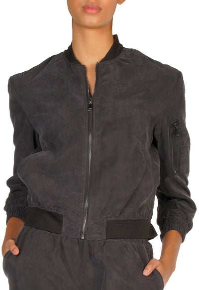 Elan - Black Bomber Jacket