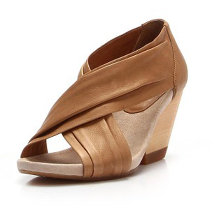 Camper Rachel- Tan Wedge Sandal