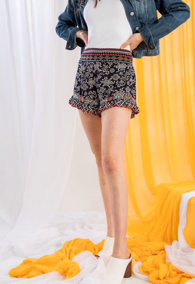 Kixters - Multi Embroidered Printed Shorts