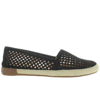 Adam Tucker Milo - Black Suede Laser Cut Espadrille Slip-On