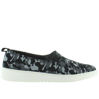 Adam Tucker Reese - Black/Grey Camo Knit Slip-On Wedge Sneaker