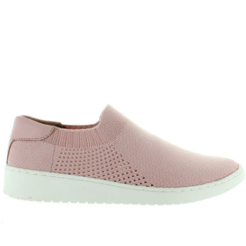 Adam Tucker Romy - Oyster Pink Elasticized Nylon Knit Slip-On Sneaker