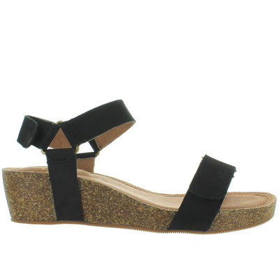 Adam Tucker Shea - Black Nubuck Platform/Wedge Sandal