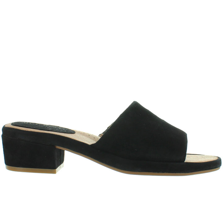 Adam Tucker Yolo - Black Suede Slide Sandal
