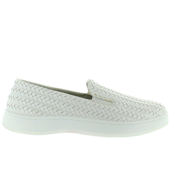 Aureus Claire - Cream Woven Slip-On Sneaker