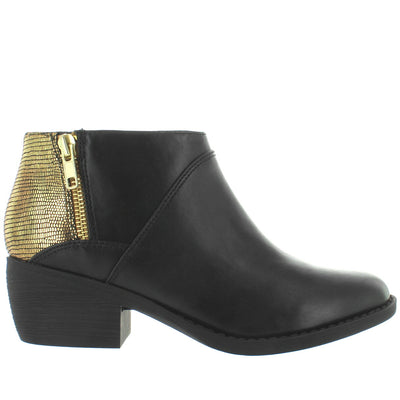 BC Union - Black/Gold/Exotic Dual Zip Bootie