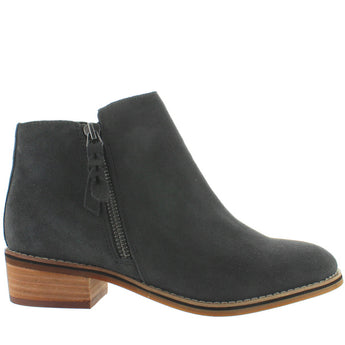 Blondo Canada Liam - Waterproof Dark Grey Suede Dual Zip Bootie