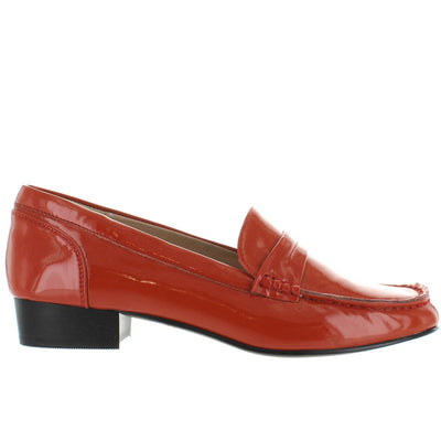 Chelsea Crew Belmont - Orange Patent Loafer