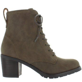 Chelsea Crew Tomboy 2 - Khaki Leather Lug Combat Boot