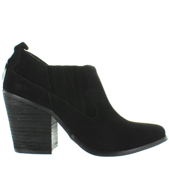 Chinese Laundry Sonoma - Black Suede Pull-On Western Bootie