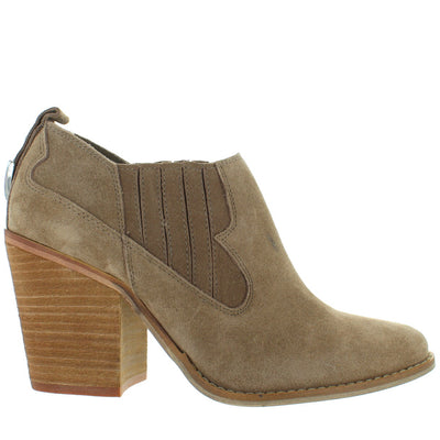Chinese Laundry Sonoma - Mink Suede Pull-On Western Bootie