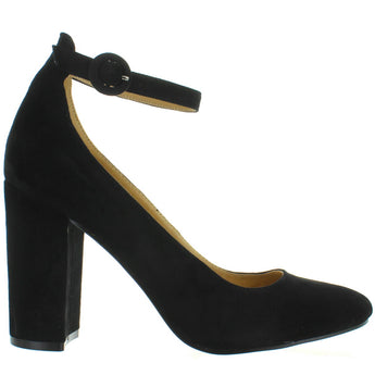 Chinese Laundry Veronika - Black Suede Ankle Strap Pump