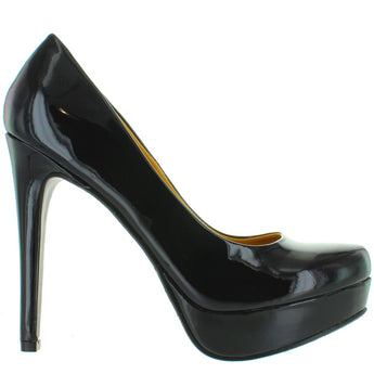 Chinese Laundry Wendy - Black Patent Stiletto Platform Pump