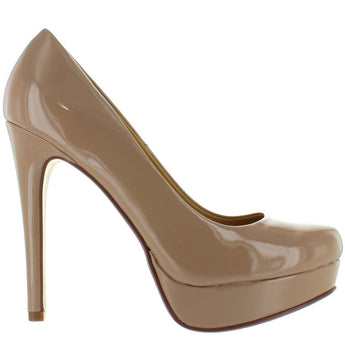 Chinese Laundry Wendy - Nude Patent Stiletto Platform Pump