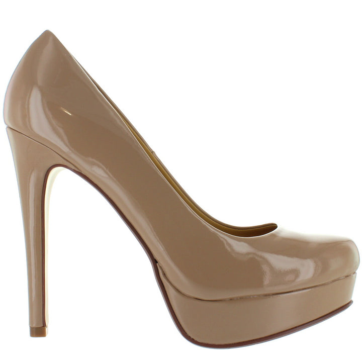 abac76bbed Chinese Laundry Wendy - Nude Patent Stiletto Platform Pump – Kixters.com