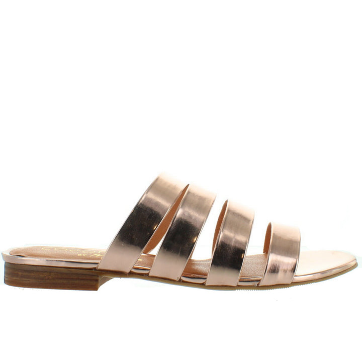 Coconuts Perry - Rose Gold Strappy Flat Slide Sandal