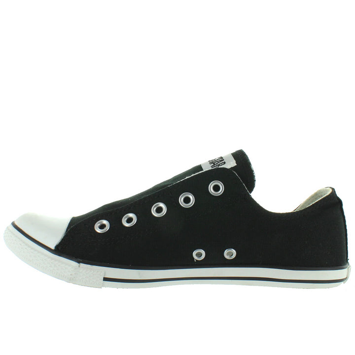 97adbbd3985b3e ... Converse All-Star Chuck Taylor Slim Slip - Black Canvas Slip-On Laceless  Sneaker ...