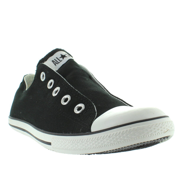 43afcc46650b ... Converse All-Star Chuck Taylor Slim Slip - Black Canvas Slip-On Laceless  Sneaker ...