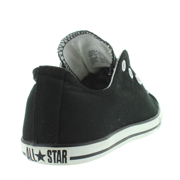 50f14dfc01033 Converse All-Star Chuck Taylor Slim Slip - Black Canvas Slip-On ...