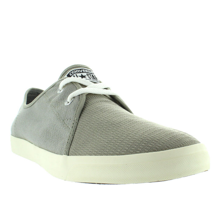 ceba3ef73e0e ... Converse All Star Riff Ox - Old Silver Oyster Woven Canvas Low-Top Lace  ...