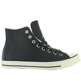Converse All-Star Chuck Taylor Hi - Grey Leather Shearling High-Top Sneaker