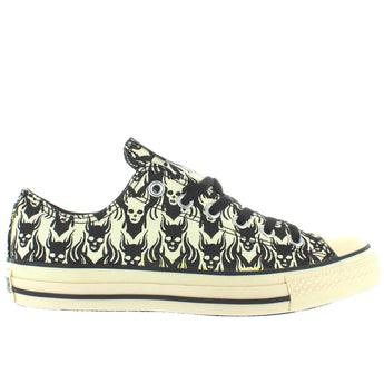 Converse All-Star Chuck Taylor Print Ox - Black/Parchment Skull Low-Top Sneaker