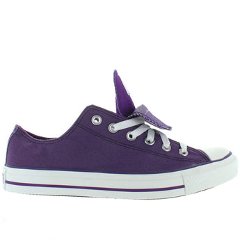 Converse All-Star Chuck Taylor Shimmer 2X Tongue - Grape Canvas/Shimmer Low Top Sneaker