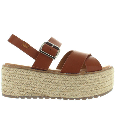 Coolway Cecil - Cue Crisscross Chunky High Platform Sandal