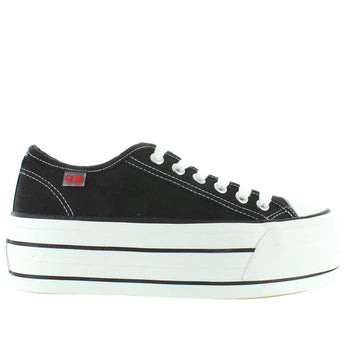 Coolway Grease - Black High Platform Lace Sneaker