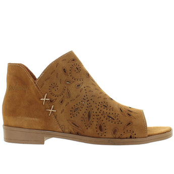 Coolway Nelia - Brown Suede Fancy Cut-Out Sandal Bootie