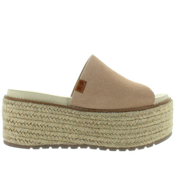 Coolway Newbor - Nude High Chunky Platform/Wedge Slide Sandal