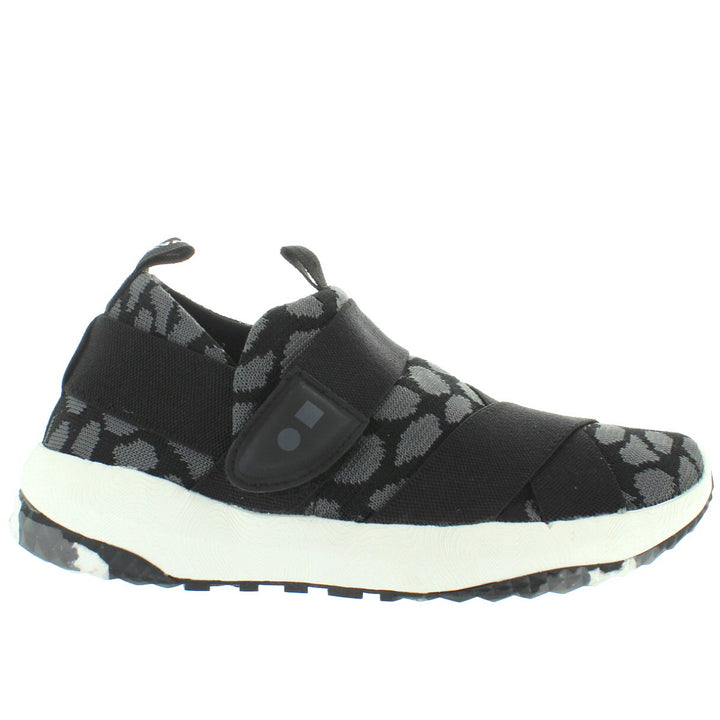 Coolway Treck Fit - Black Multi Textile Wedge Sneaker