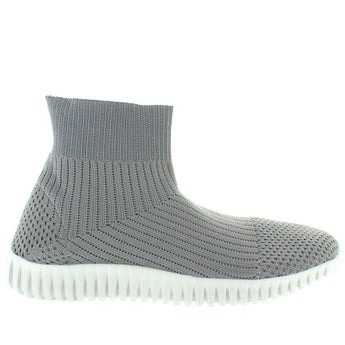 Dirty Laundry Helix - Grey Stretch Knit Sock Sneaker