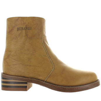 Durango Stovepipe - Tan Leather Side Zip Boot