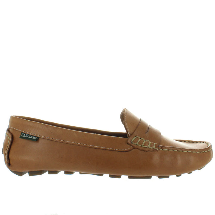 Eastland Patricia - Camel Leather Penny Loafer Driving Moc