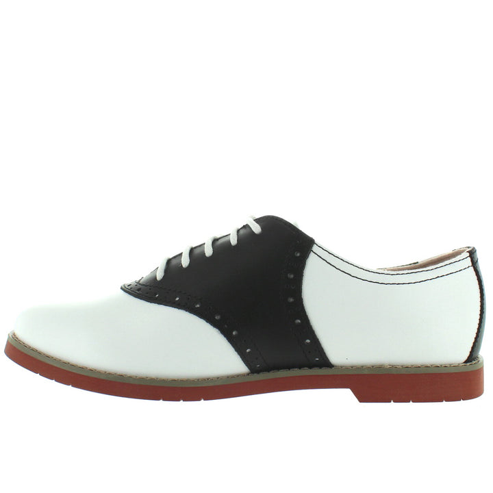 5d3de654693 Eastland Sadie - Black White Leather Saddle Oxford – Kixters.com