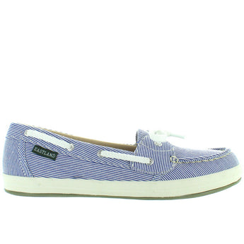 Eastland Skip - Blue Stripe Canvas Boat Shoe