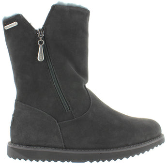 EMU Australia Gravelly - Waterproof Charcoal Suede Zip Fur-Lined Boot