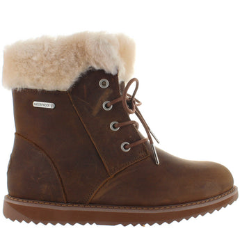 EMU Australia Shoreline - Waterproof Oak Leather Fur-Lined Lace Boot