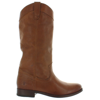 Frye Boot Melissa Pull-On - Cognac Leather Knee-High Riding Boot