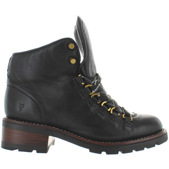 Frye Boot Alta Hiker - Black Leather Lace Hiking Boot